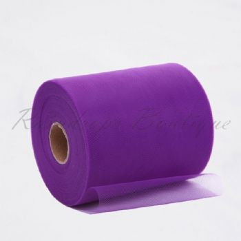 Purple Polyester Tulle Roll